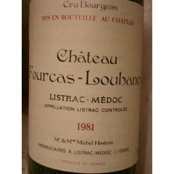 CHATEAU FOURCAS LOUBANEY 1981 LISTRAC