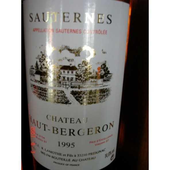 CHATEAU HAUT BERGERON Sauternes 1997