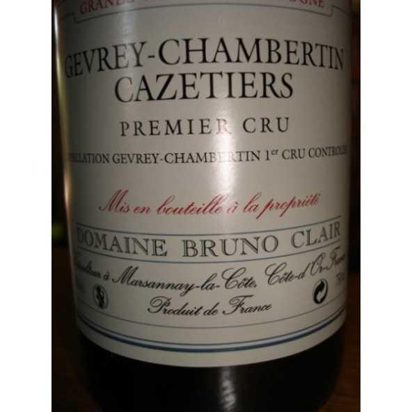GEVREY CHAMBERTIN 1er CRU Cazetiers 2011 BRUNO CLAIR