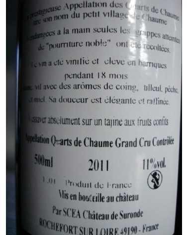 CHATEAU DE SURONDE QUARTS DE CHAUME 50 Cl 2011