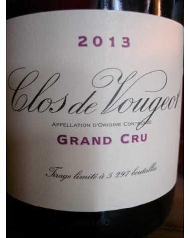 CLOS DE VOUGEOT GRAND CRU DOMAINE DE LA VOUGERAIE 2013