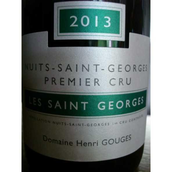 NUITS SAINT GEORGES Les Saint Georges 1er cru Gouges 2013