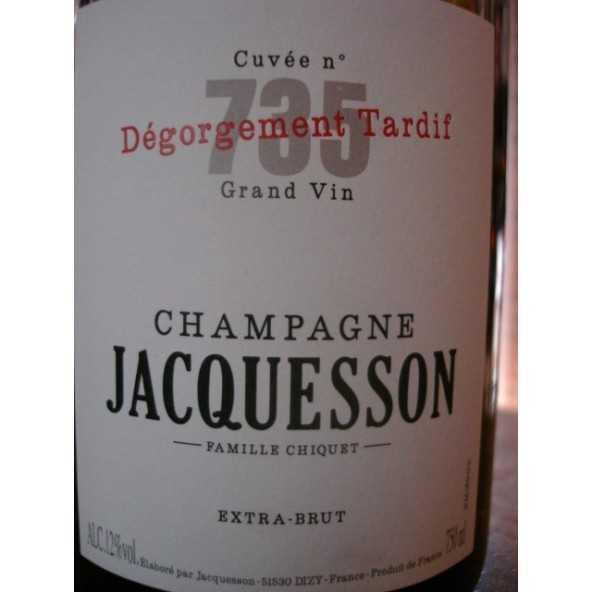 CHAMPAGNE JACQUESSON Cuvée 734 Dégorgement Tardif