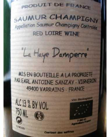 SAUMUR CHAMPIGNY LA HAYE DAMPIERRE ANTOINE SANZAY 2015