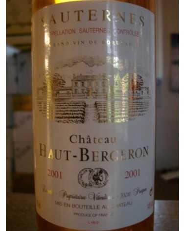 CHATEAU HAUT BERGERON 2001 50 cl