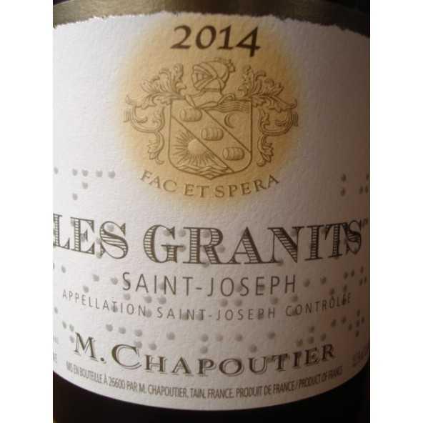 SAINT JOSEPH blanc Les Granits CHAPOUTIER 2012