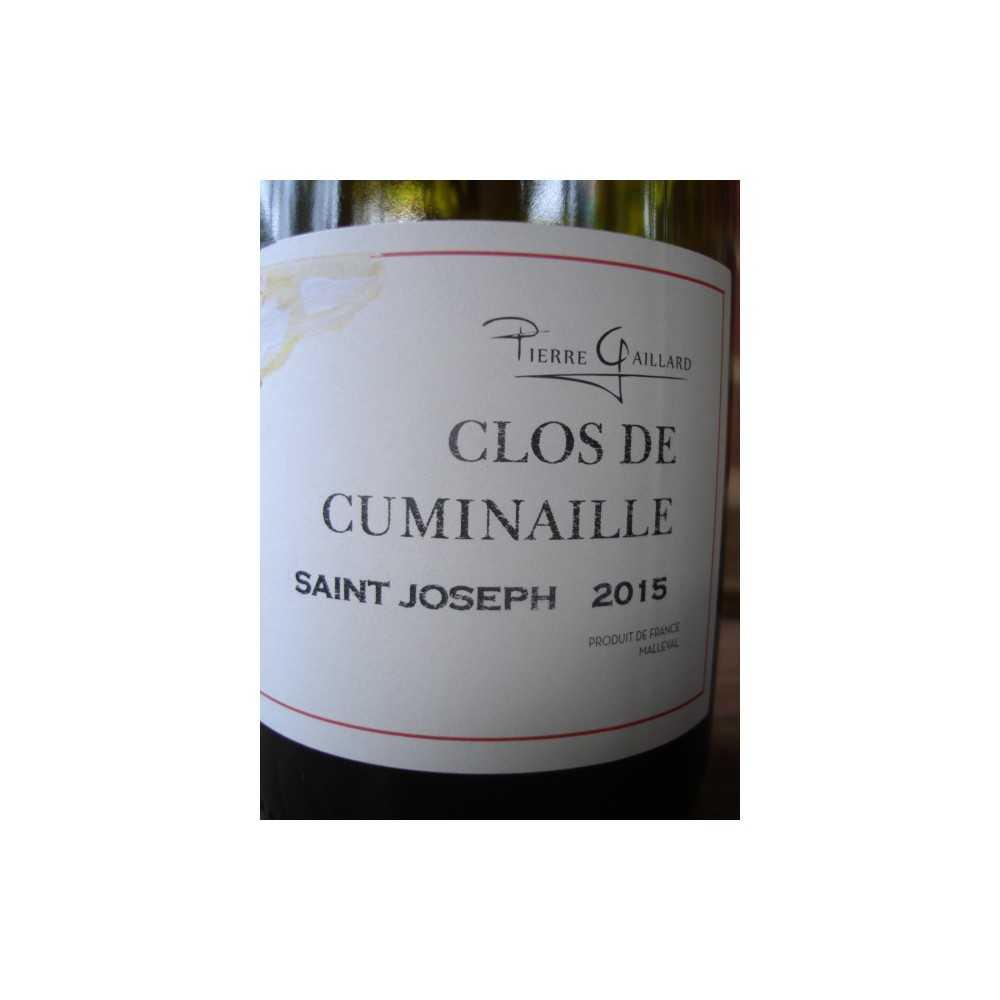 SAINT JOSEPH ROUGE CLOS DE CUMINAILLE PIERRE GAILLARD 2015
