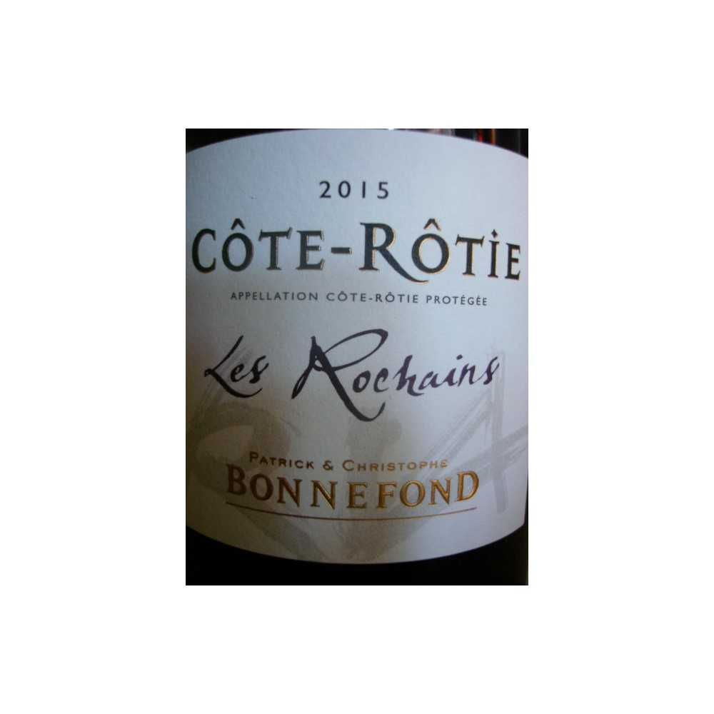 COTE ROTIE Les Rochains Domaine de Bonnefond 2015