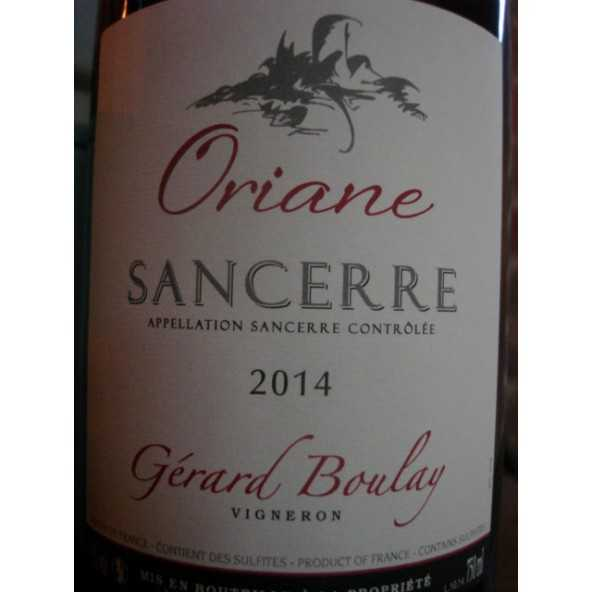 SANCERRE ROUGE ORIANE GERARD BOULAY 2012