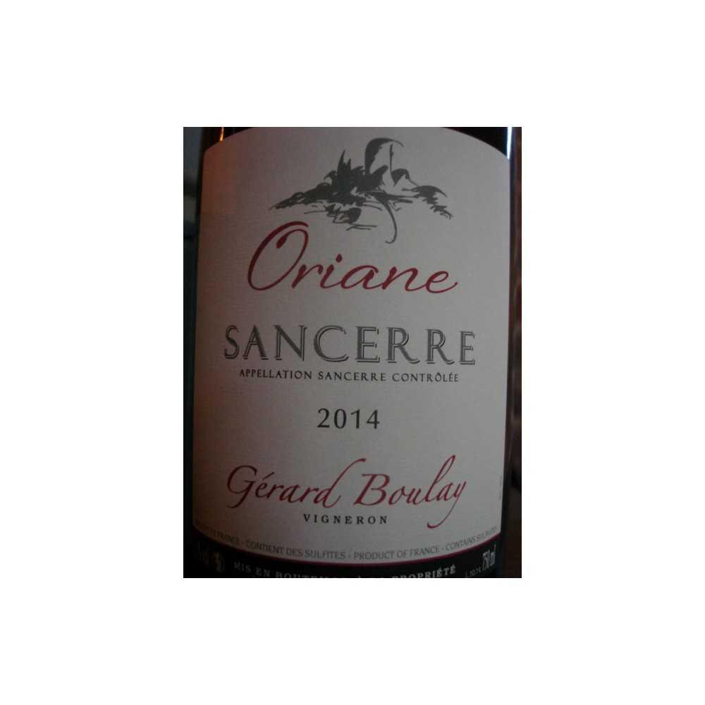 SANCERRE ROUGE ORIANE GERARD BOULAY 2012