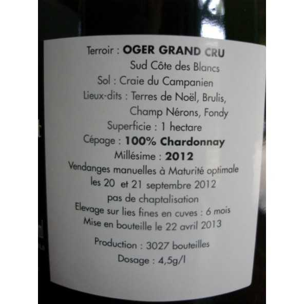 CHAMPAGNE SPECIAL CLUB OGER GRAND CRU P. GIMONNET 2012