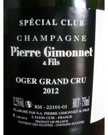 CHAMPAGNE SPECIAL CLUB OGER GRAND CRU P. GIMONNET 2012