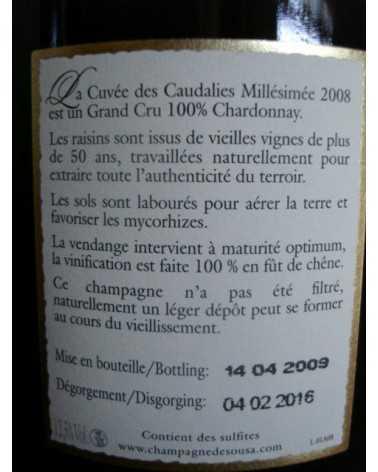 CHAMPAGNE DE SOUSA Cuvée des CAUDALIES 2008