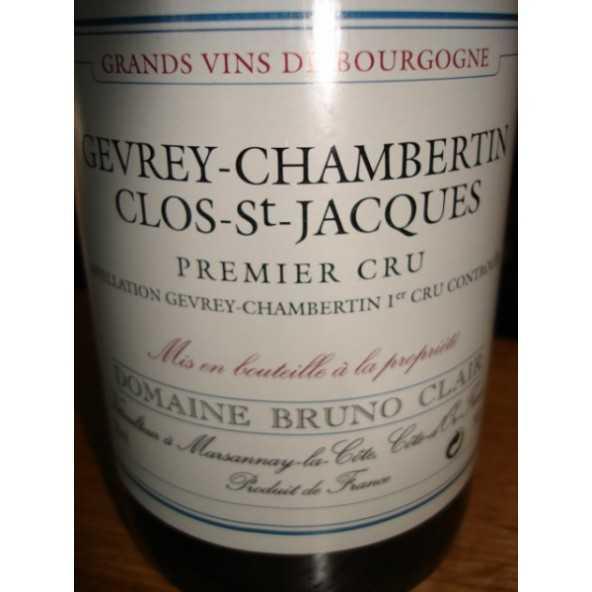 GEVREY CHAMBERTIN 1er crû Clos Saint Jacques B.Clair 2015