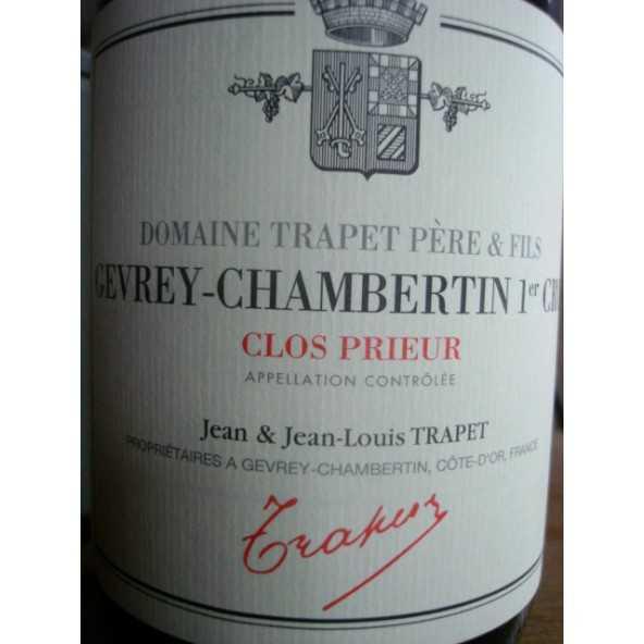 GEVREY CHAMBERTIN 1er cru CLOS PRIEUR TRAPET 2015
