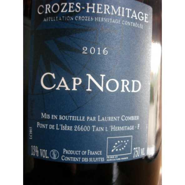 CROZES HERMITAGE ROUGE CAP NORD DOMAINE COMBIER 2015