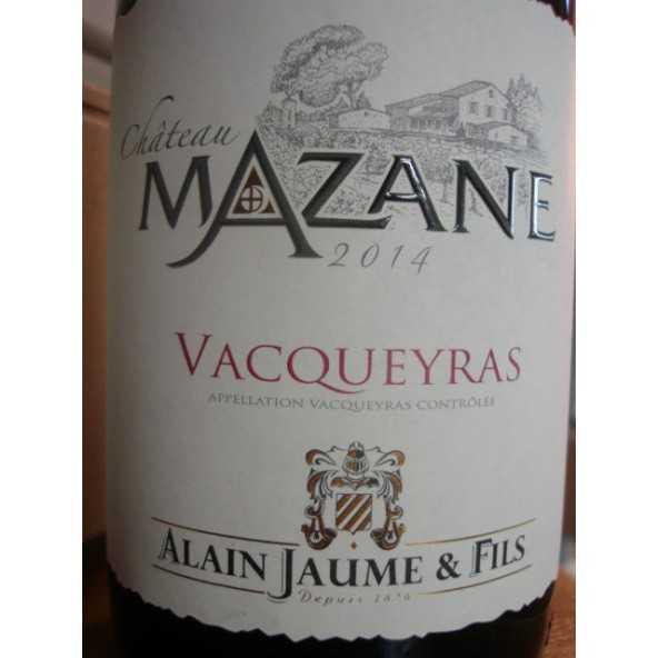 VACQUEYRAS ROUGE CHATEAU MAZANE ALAIN JAUME