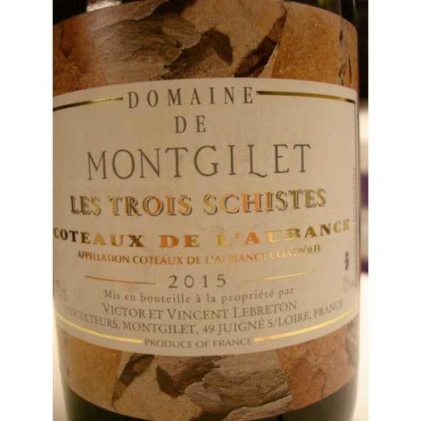 COTEAUX DE L'AUBANCE Domaine de Montgilet Les Trois SCHISTES 2014