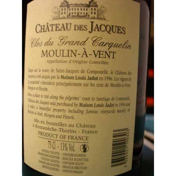 MOULIN À VENT CHATEAU DES JACQUES Grand Carquelin JADOT 2013