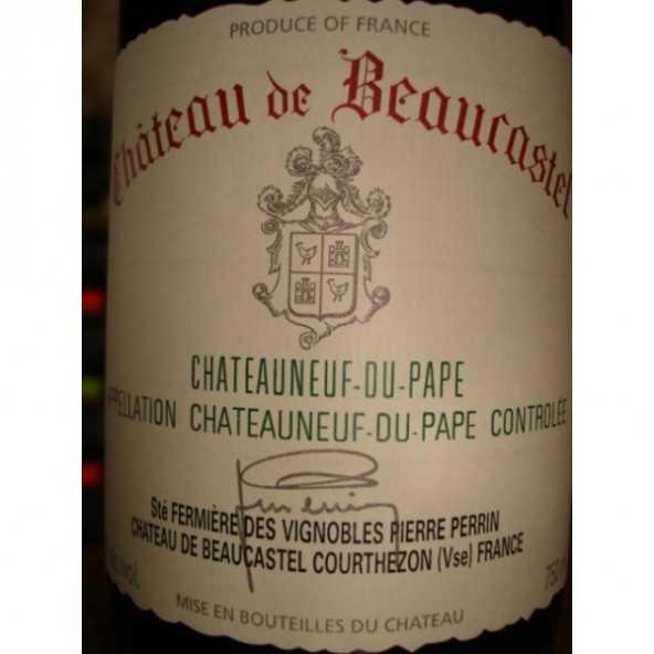 CHATEAUNEUF DU PAPE BEAUCASTEL rouge 2006
