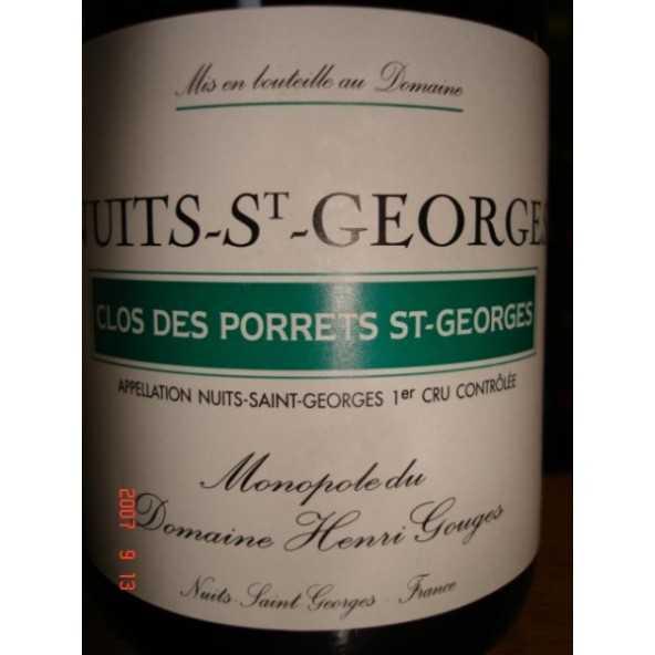 NUITS ST GEORGES Les Porrets Gouges 1/2 1999