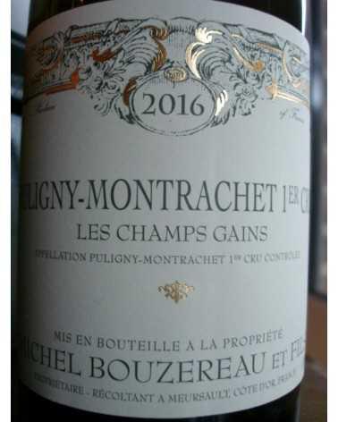 Puligny Montrachet 1er cru Les Champs Gains Michel Bouzereau 2015