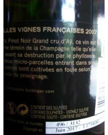 CHAMPAGNE BOLLINGER VIEILLES VIGNES FRANCAISES 2007
