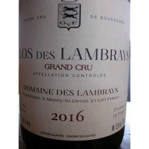 CLOS DES LAMBRAYS Grand crû 2015