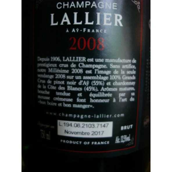 CHAMPAGNE LALLIER GRAND CRU 2008