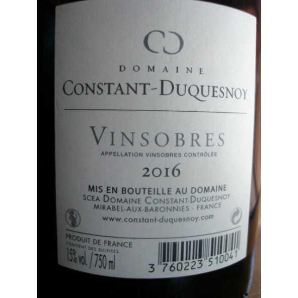 VINSOBRES Domaine Constant Duquesnoy 2015