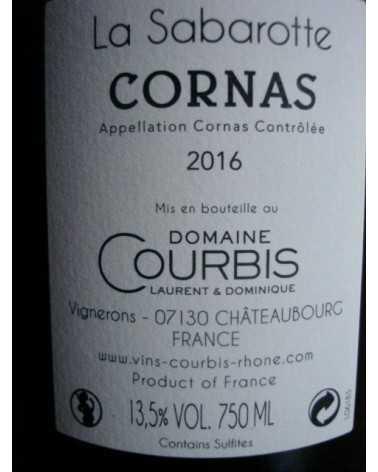 CORNAS LA SABAROTTE Dom. COURBIS 2016