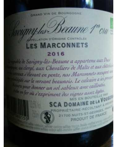 SAVIGNY LES BEAUNE 1er cru Les Marconnets Domaine de la Vougeraie 2016