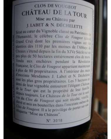 CLOS VOUGEOT CHATEAU DE LA TOUR VIEILLES VIGNES 2016