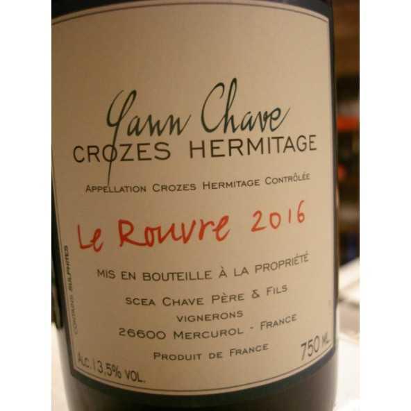 CROZES HERMITAGE  LE ROUVRE YANN CHAVE 2015