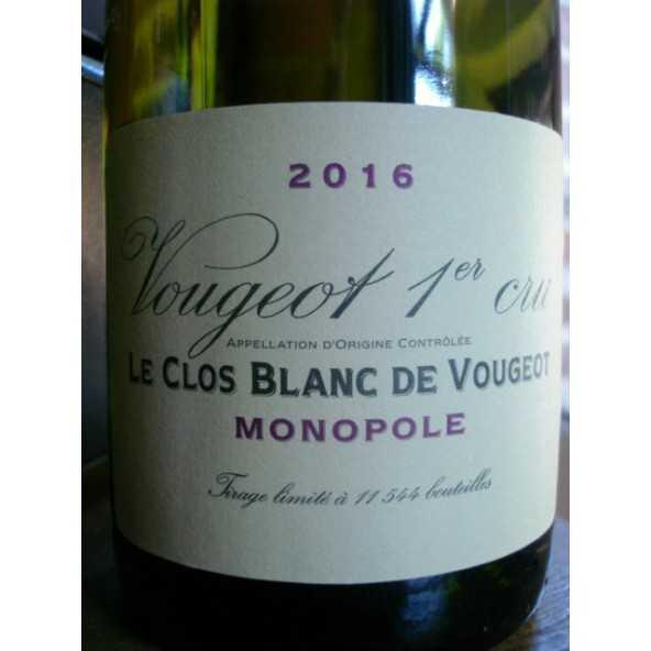 CLOS BLANC DE VOUGEOT Domaine de la Vougeraie 2015