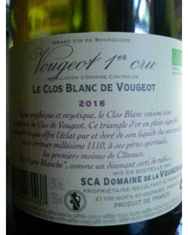 CLOS BLANC DE VOUGEOT Domaine de la Vougeraie 2016