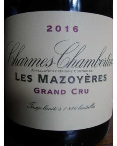 CHARMES CHAMBERTIN Les Mazoyeres LA VOUGERAIE 2016