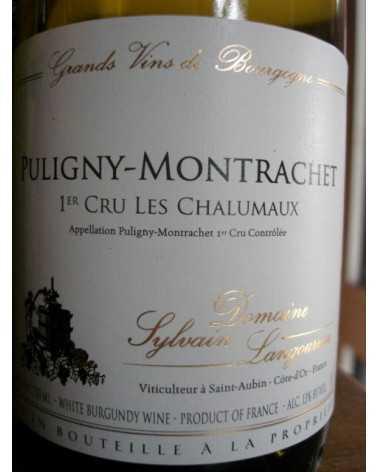 """Puligny-Montrachet 1er Cru """" Les Chalumaux """" Domaine Sylvain Langoureau 2017"""