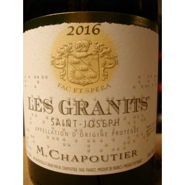 SAINT JOSEPH blanc Les Granits CHAPOUTIER 2015