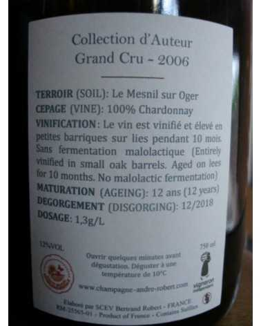 CHAMPAGNE ANDRE ROBERT COLLECTION D'AUTEUR GRAND CRU 2006