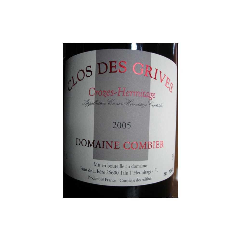 CROZES HERMITAGE Clos des Grives Dom. Combier 2005
