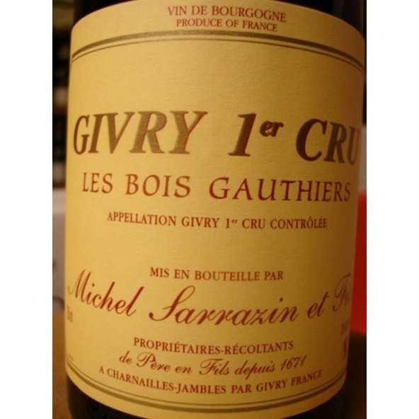 GIVRY rouge 1er cru Les Bois Gauthiers Michel SARRAZIN 2015