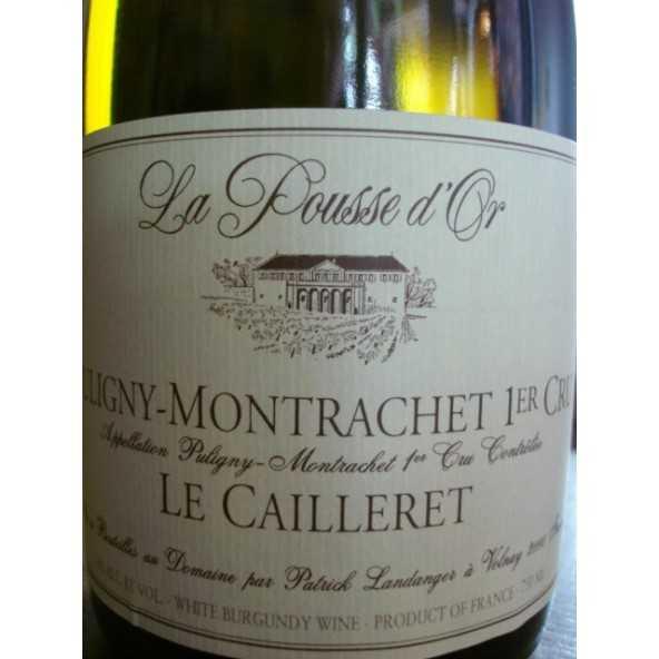 PULIGNY MONTRACHET Clos Le Cailleret 1er CRU POUSSE D'OR 2015