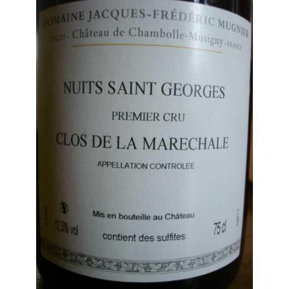 Nuits Saint Georges 1er cru Clos de la Maréchale J-F Mugnier 2013