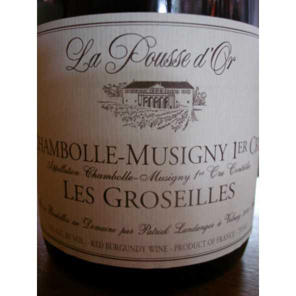 CHAMBOLLE MUSIGNY 1er CRU LES GROSEILLES  POUSSE D'OR 2015
