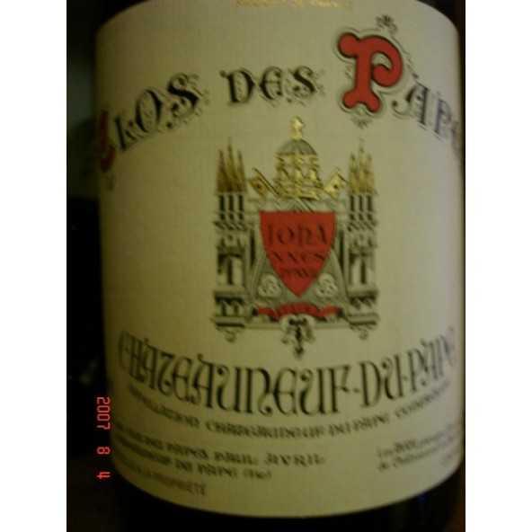 CHATEAUNEUF CLOS DES PAPES rouge 1/2 en 2003-2004-2005-2006-2007
